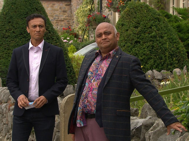 Jai and Rishi on the first episode of Emmerdale on October 14, 2021