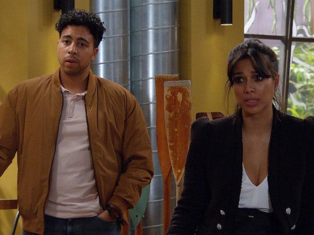 Ellis and Priya on Emmerdale on October 13, 2021