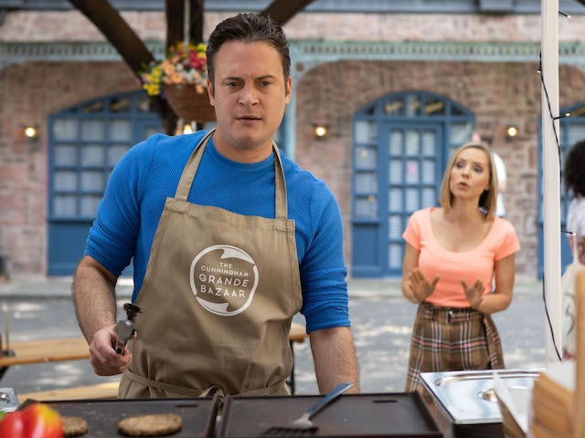 Luke and Cindy on Hollyoaks on October 5, 2021