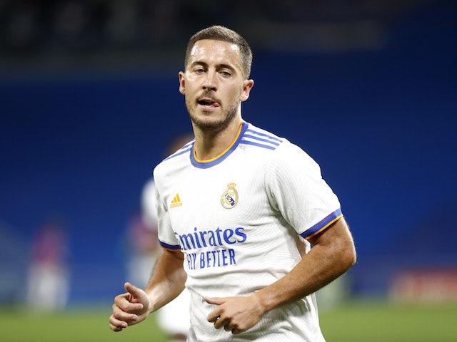 Real Madrid's Eden Hazard on September 28, 2021