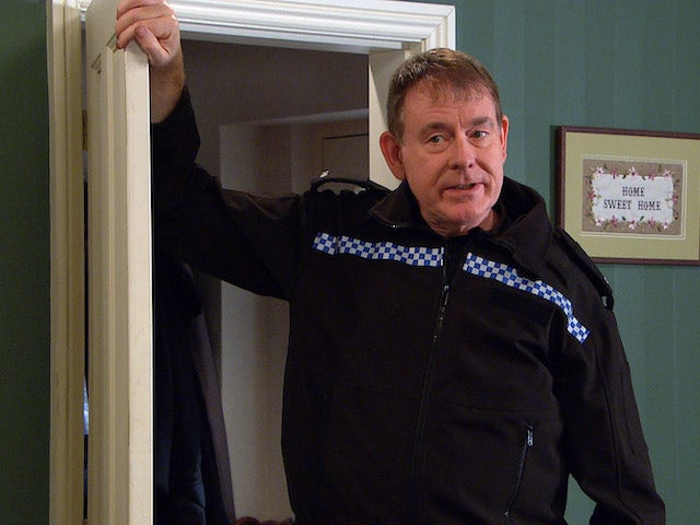 PC Swirling on the second episode of Emmerdale on September 30, 2021