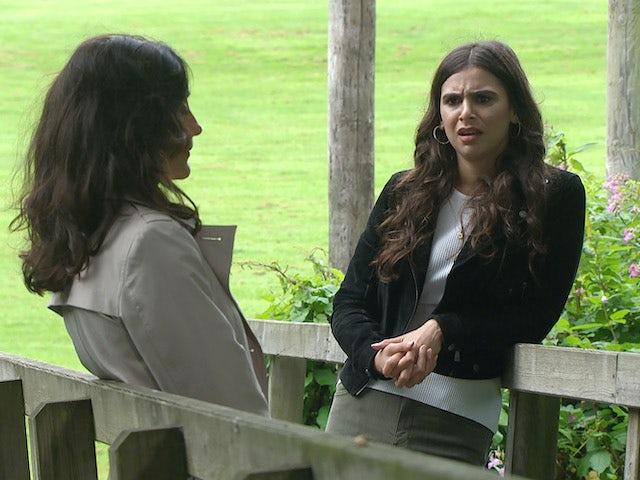 Meena on the second episode of Emmerdale on October 14, 2021