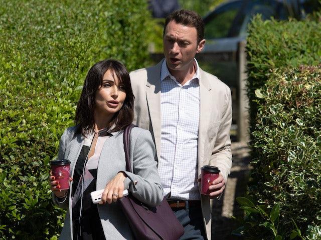Liam and Leyla on Emmerdale on September 27, 2021