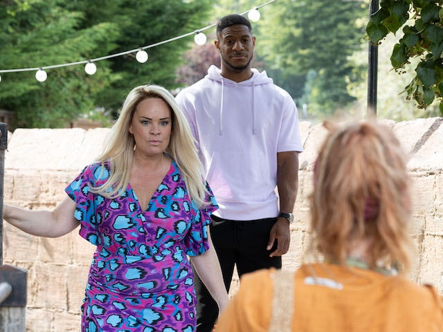 Grace and Nate on Hollyoaks on October 8, 2021