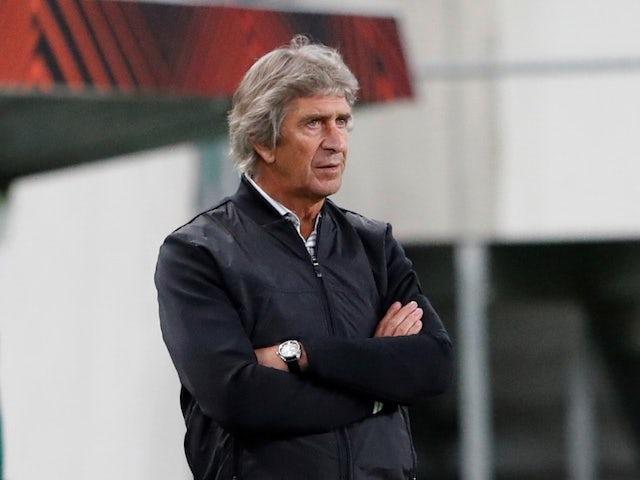 Real Betis coach Manuel Pellegrini on September 30, 2021