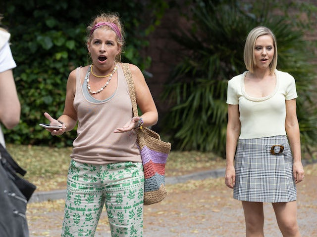 Zara and Cindy on Hollyoaks on October 6, 2021