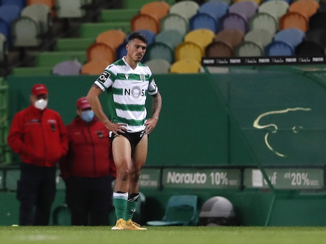 Pedro Porro in action for Sporting Lisbon in April 2021