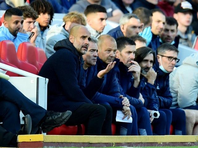 Man City 'make complaint after Liverpool fan allegedly spat at backroom staff'