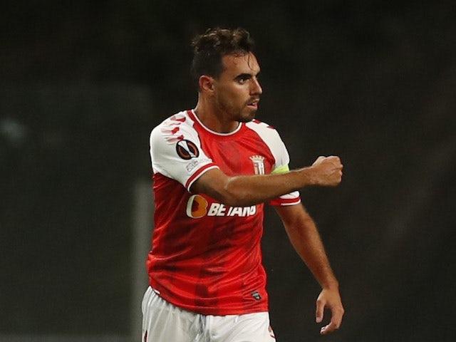 Braga's Ricardo Horta celebrates scoring their second goal on September 30, 2021