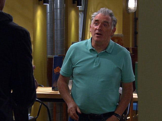 Bob on the first episode of Emmerdale on October 7, 2021