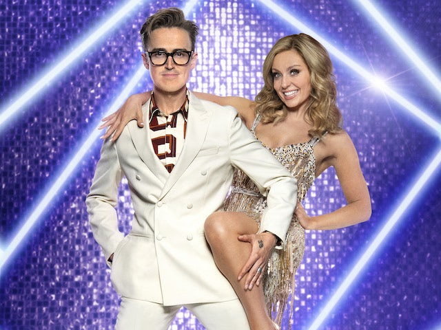 Tom Fletcher and Amy Dowden on Strictly Come Dancing 2021