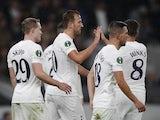 Tottenham Hotspur's Harry Kane celebrates scoring against Mura on September 30, 2021
