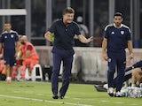 Cagliari coach Walter Mazzarri reacts on September 26, 2021