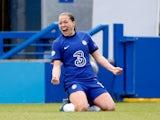 Fran Kirby celebrates scoring for Chelsea Women in May 2021