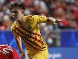 Barcelona midfielder Gavi pictured in September 2021