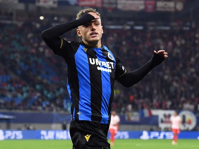 Club Brugge's Noa Lang pictured in September 2021