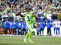 Russell Wilson in action for the Seattle Seahawks on October 8, 2021