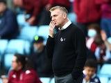 Aston Villa manager Dean Smith on October 16, 2021