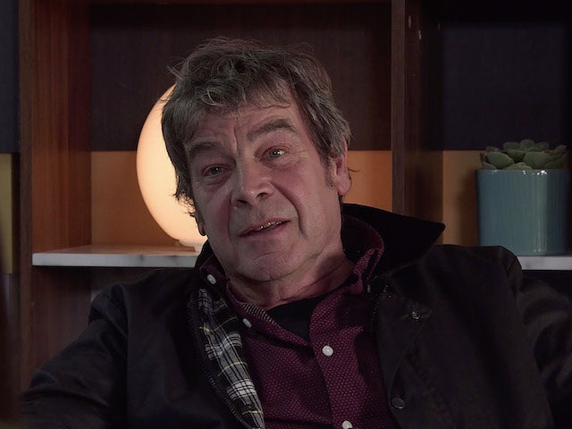 Johnny on the first episode of Coronation Street on October 18, 2021
