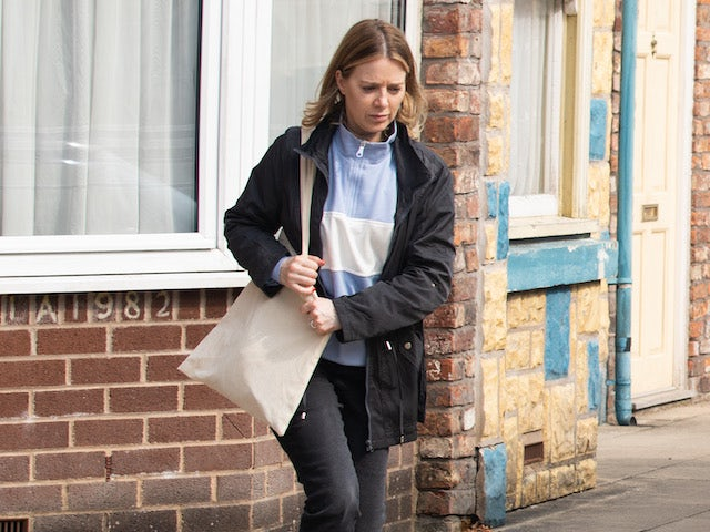 Abi on the first episode of Coronation Street on October 18, 2021