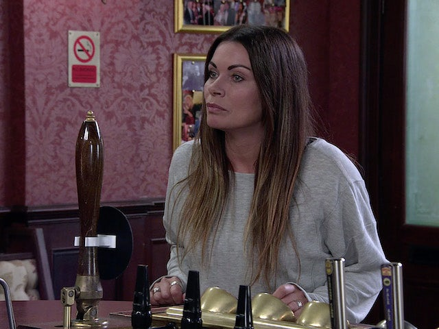 Carla on the second episode of Coronation Street on October 18, 2021