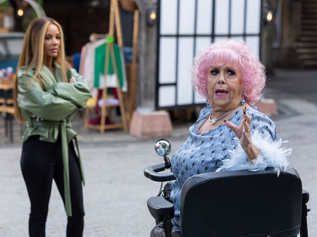 Nana and Goldie on Hollyoaks on October 19, 2021