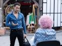 Fernando the stripper on Hollyoaks on October 19, 2021