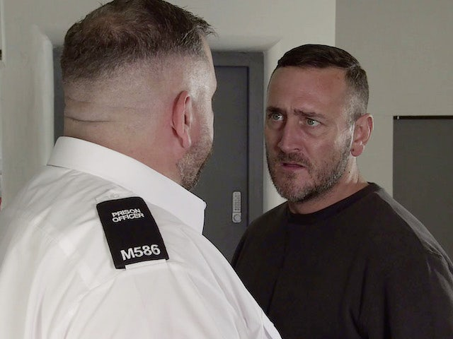 Harvey on the first episode of Coronation Street on October 18, 2021