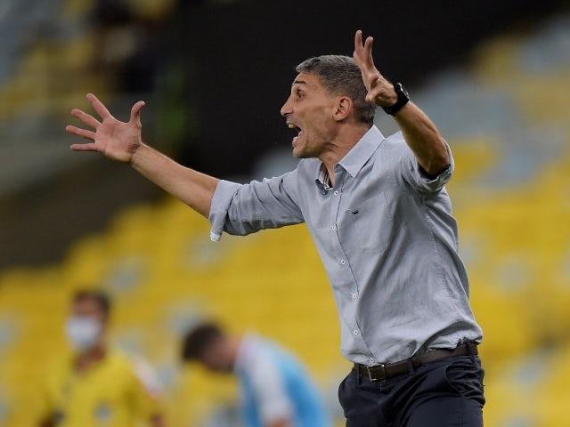 Fortaleza head coach Juan Pablo Vojvoda pictured on October 7, 2021