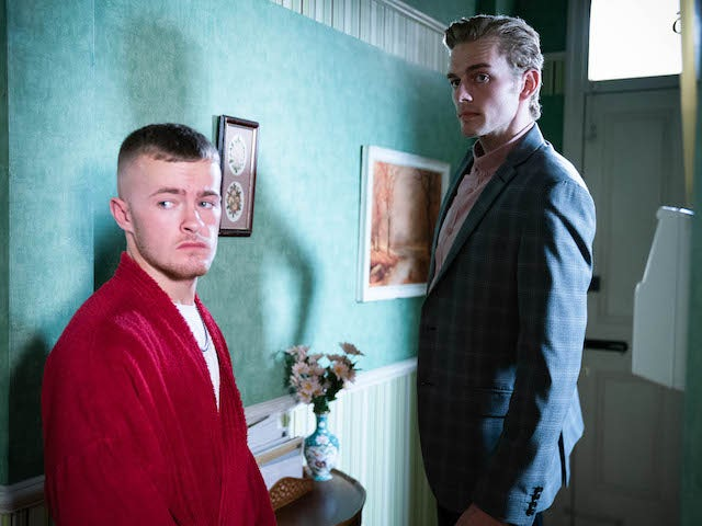 Liam and Peter on EastEnders on October 18, 2021
