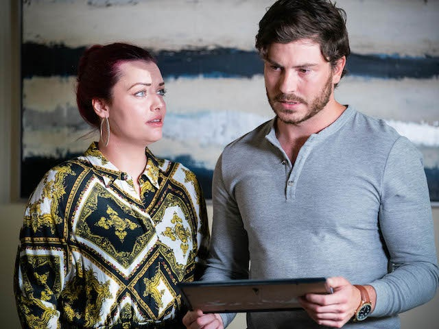 Gray and Whitney on EastEnders on October 22, 2021