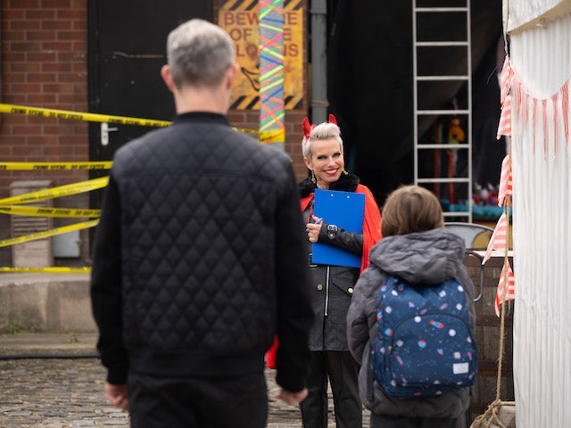 Debbie on the first episode of Coronation Street on October 18, 2021