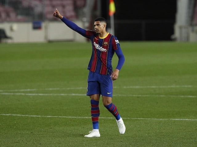 Barcelona defender Ronald Araujo pictured in April 2021
