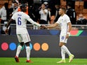 France's Kylian Mbappe and Paul Pogba pictured in October 2021