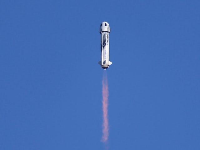 Star Trek legend William Shatner blasts into space