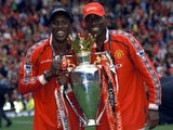 Dwight Yorke and Andy Cole pictured together in 1999