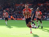 Armando Broja celebrates scoring for Southampton against Burnley on October 23, 2021