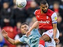 Rotherham United's Michael Ihiekwe in action with Accrington Stanley's Dion Charles on November 16, 2019