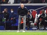 Ajax coach Erik ten Hag reacts on October 19, 2021
