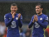 Mason Mount and Ben Chilwell after Chelsea's win over Southampton on October 2.