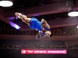 Nicola Bartolini in action at the World Artistic Gymnastics Championships on October 23, 2021