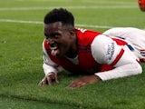 Eddie Nketiah in action for Arsenal in October 2021