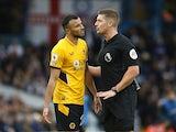 Wolverhampton Wanderers defender Romain Saiss pleads his innocence against Leeds United on October 23, 2021