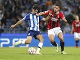 Porto midfielder Vitinha in action against AC Milan on October 19, 2021.