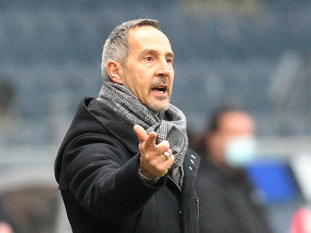 Eintracht Frankfurt coach Adi Hutter pictured on January 2, 2021