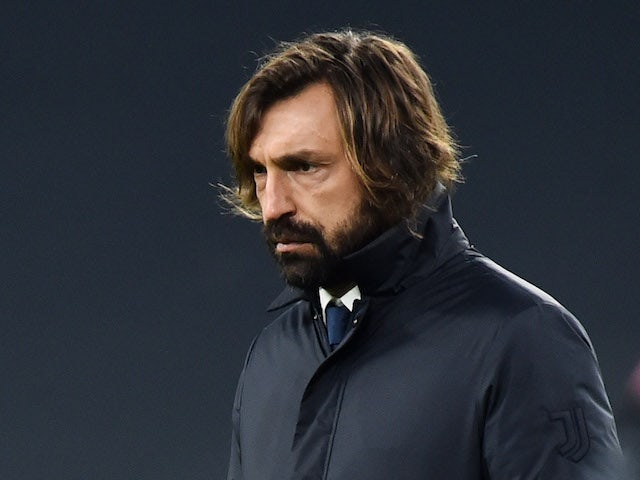 Juventus head coach Andrea Pirlo pictured on January 3, 2021