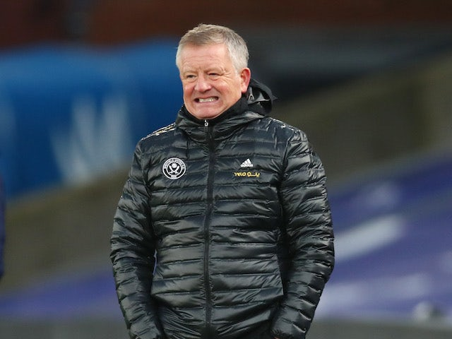 Sheffield United manager Chris Wilder pictured on January 2, 2021