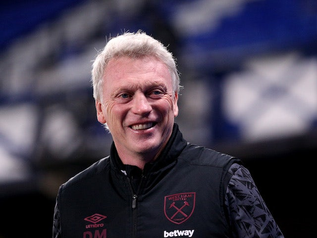West Ham United manager David Moyes pictured on January 1, 2021