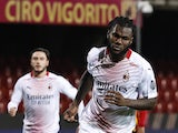 AC Milan's Franck Kessie celebrates scoring against Benevento in Serie A on January 3, 2020