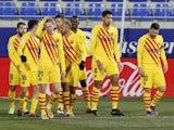 Barcelona's Frenkie de Jong celebrates scoring against Huesca in La Liga on January 3, 2021